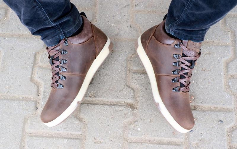 Мужские ботинки кожаные зимние коричневые-матовые yuves 773 - Фото 6