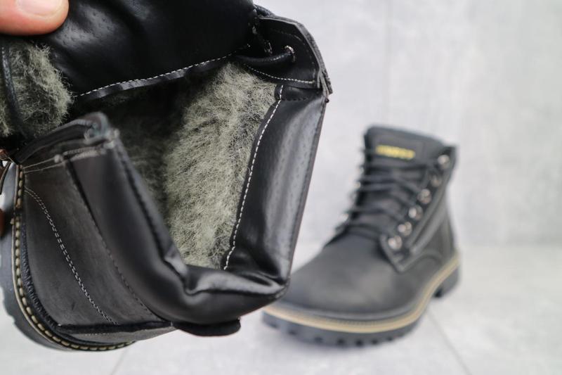 Мужские ботинки кожаные зимние черные rivest r - Фото 2
