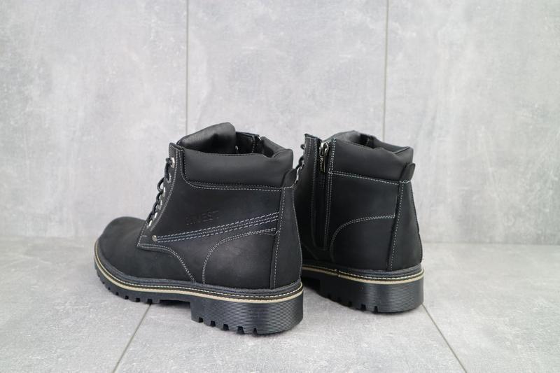 Мужские ботинки кожаные зимние черные rivest r - Фото 3