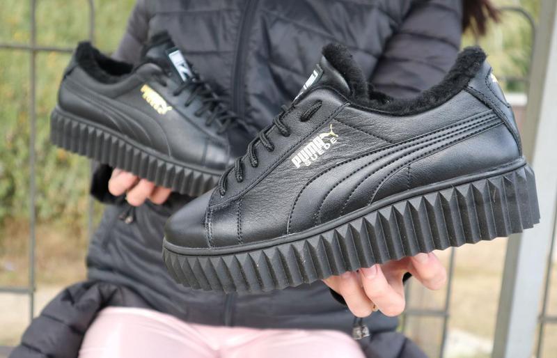 Женские ботинки кожаные зимние черные nev-men p14 - Фото 2