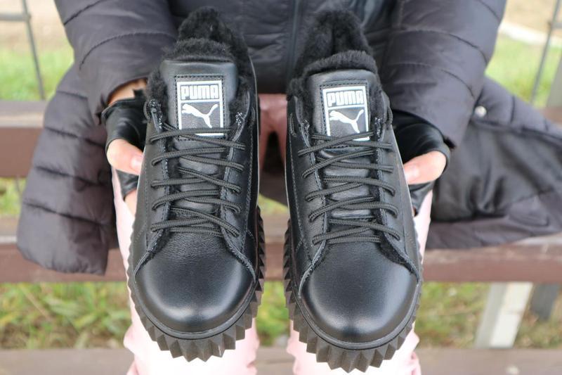 Женские ботинки кожаные зимние черные nev-men p14 - Фото 3