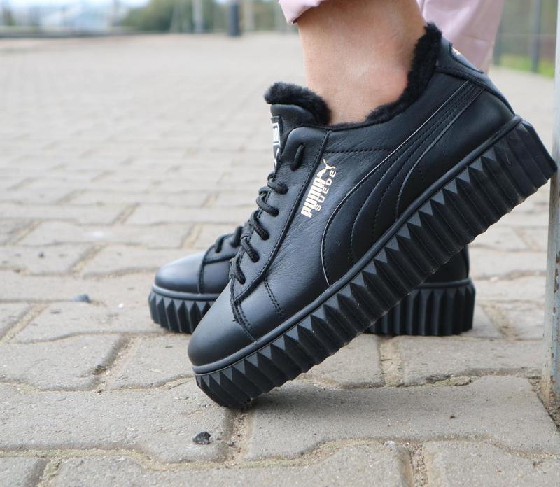 Женские ботинки кожаные зимние черные nev-men p14 - Фото 4