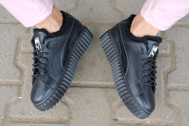 Женские ботинки кожаные зимние черные nev-men p14 - Фото 5