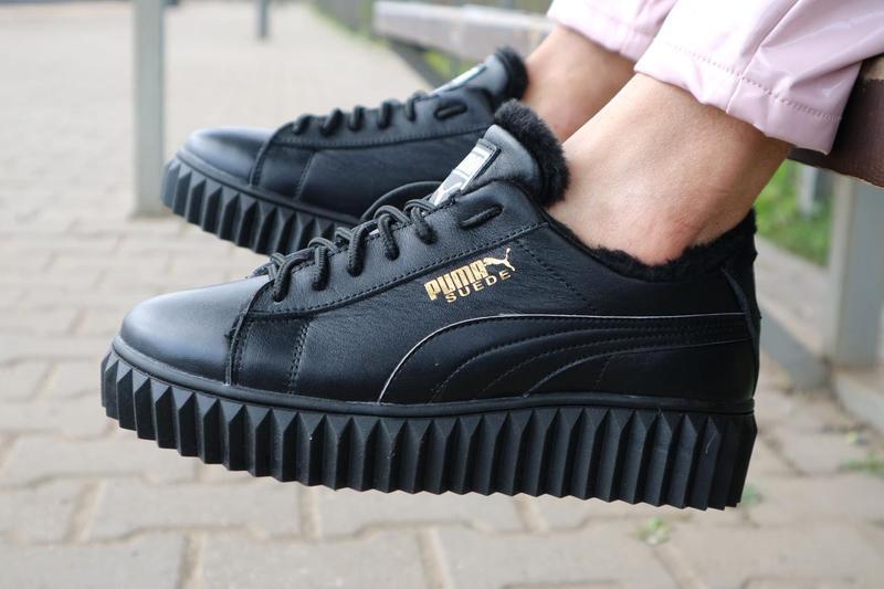 Женские ботинки кожаные зимние черные nev-men p14 - Фото 6