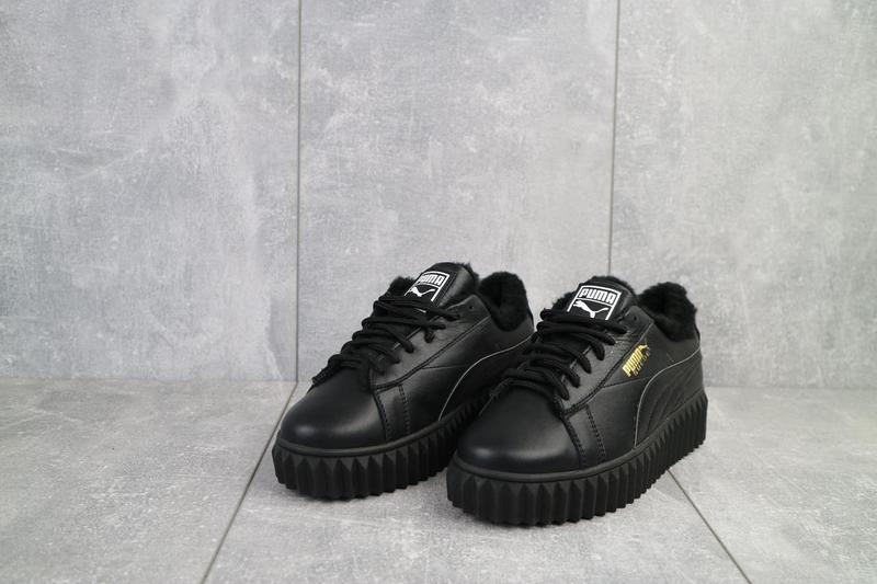 Женские ботинки кожаные зимние черные nev-men p14 - Фото 8