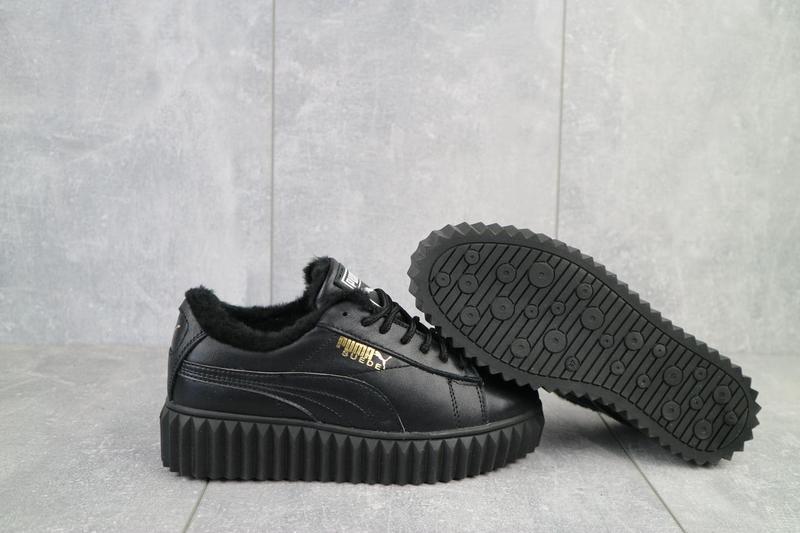 Женские ботинки кожаные зимние черные nev-men p14 - Фото 9