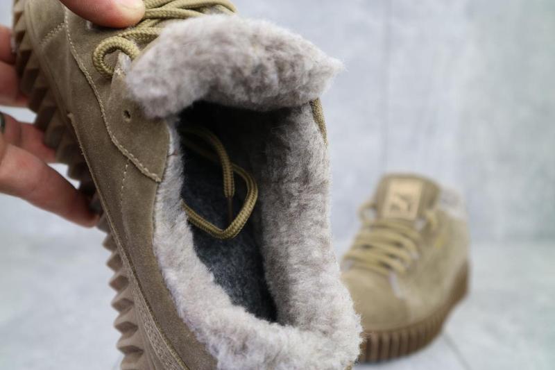 Женские ботинки замшевые зимние бежевые nev-men p беж - Фото 2