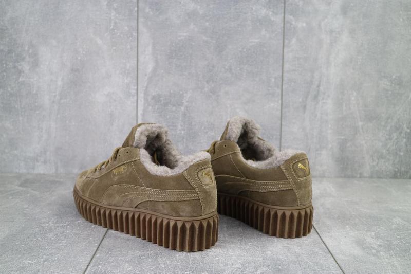 Женские ботинки замшевые зимние бежевые nev-men p беж - Фото 3