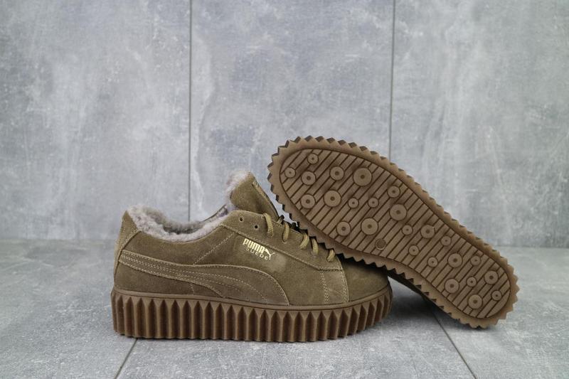 Женские ботинки замшевые зимние бежевые nev-men p беж - Фото 5