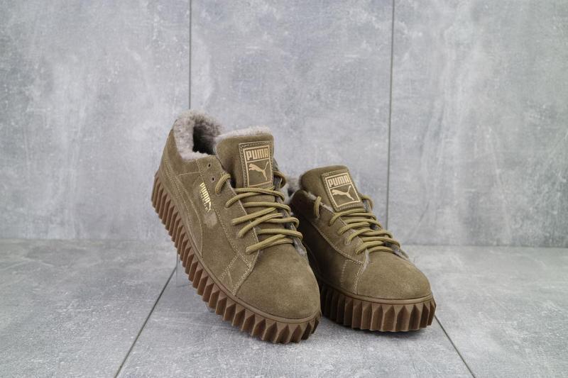 Женские ботинки замшевые зимние бежевые nev-men p беж - Фото 7