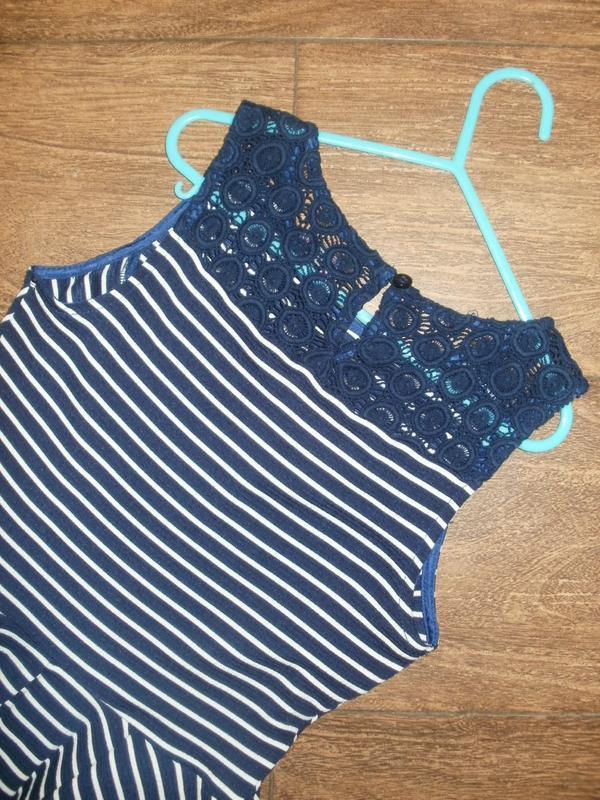 Платье f&f в полоску на 9-10 лет - Фото 3