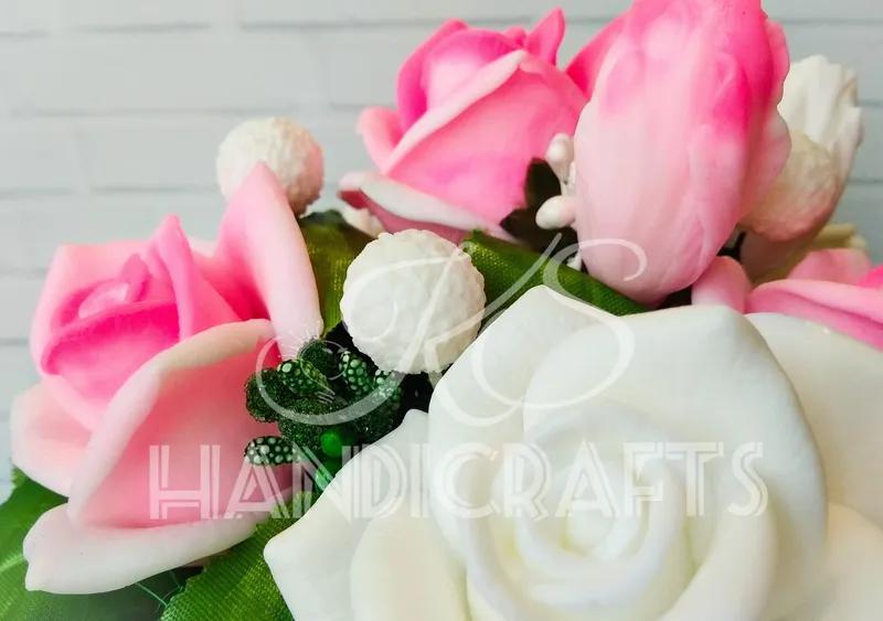 Букет роз в трапеции из мыла! Оригинальный и полезный подарок! - Фото 4