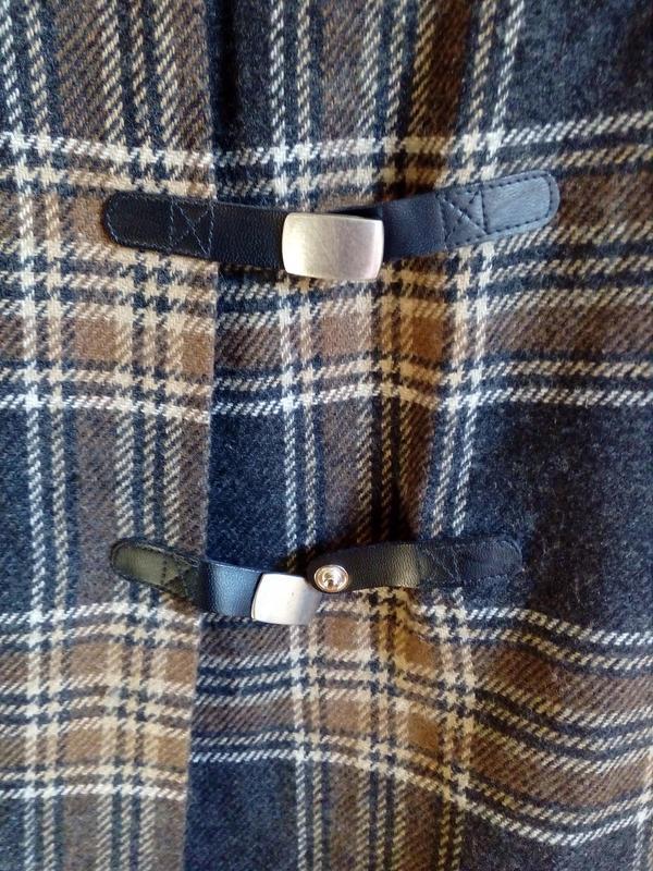 Трендовая шерстяная юбка карандаш в клетку, на запах, с кисточ... - Фото 8