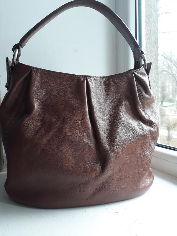 Кожаная сумка coccinelle.