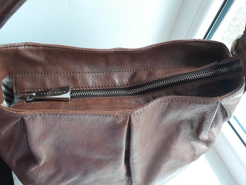 Кожаная сумка coccinelle. - Фото 3