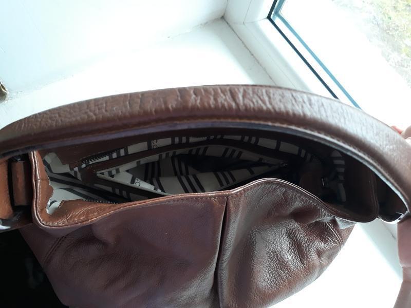 Кожаная сумка coccinelle. - Фото 7