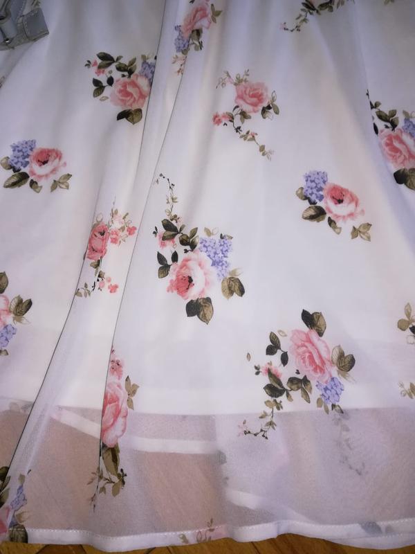 Летнее платье в цветочный принт - Фото 6