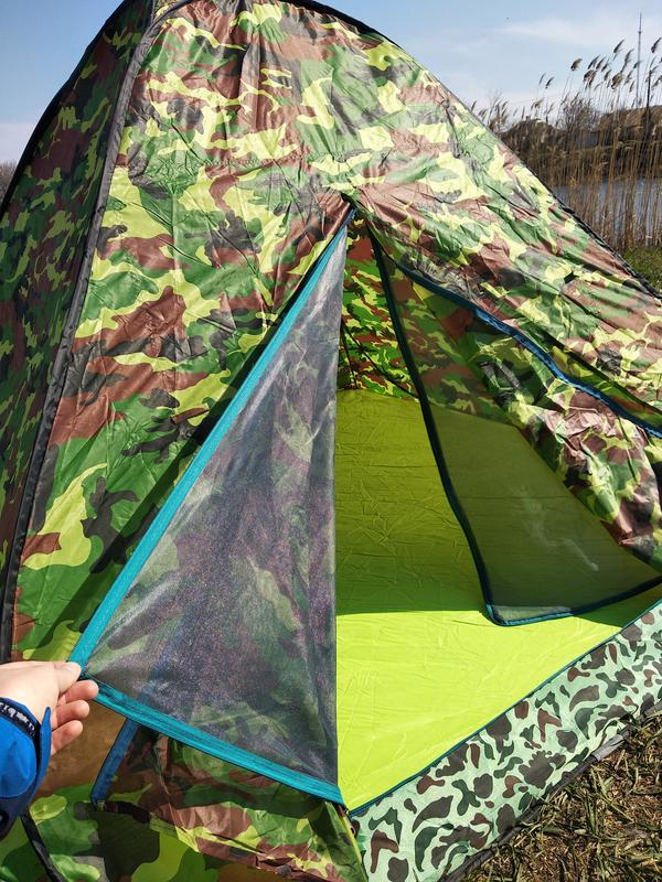 Палатка летняя автомат туристическая походная трехместная 2х2х1.5