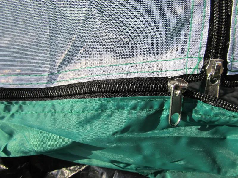 Палатка туристическая летняя трёхместная 2.1х2.1х1.3м - Фото 7