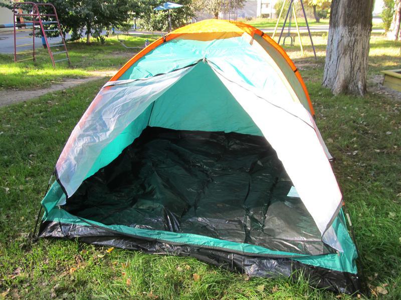 Палатка туристическая летняя трёхместная 2.1х2.1х1.3м - Фото 9