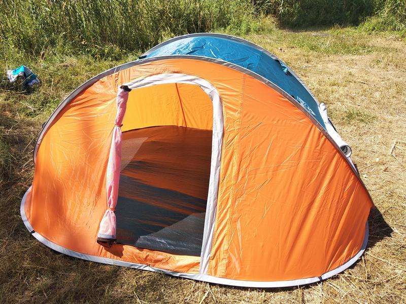 Палатка автомат летняя туристическая четырехместная 210х240х100см - Фото 2