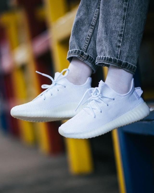 Шикарные женские кроссовки adidas yeezy boost white 😍 (весна/ ... - Фото 3