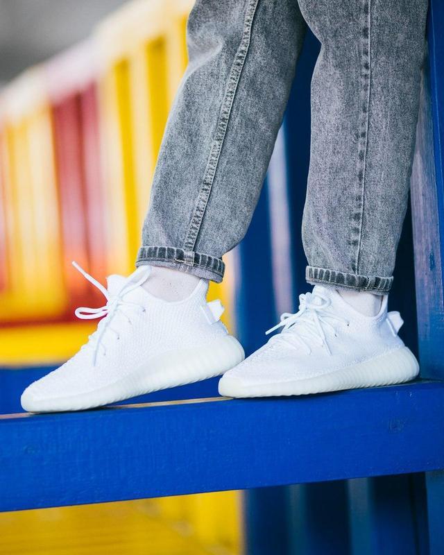 Шикарные женские кроссовки adidas yeezy boost white 😍 (весна/ ... - Фото 4
