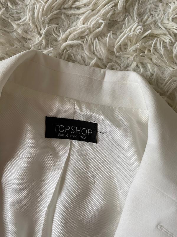 Шикарный белый базовый пиджак/ молочный пиджак - Фото 9