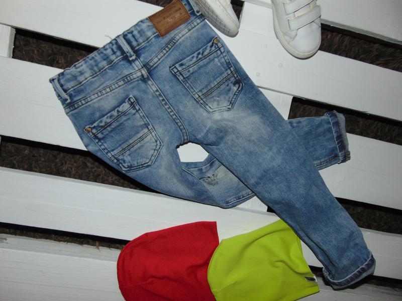 Бомбезні джинсулі zara boys ріст 116 - Фото 3