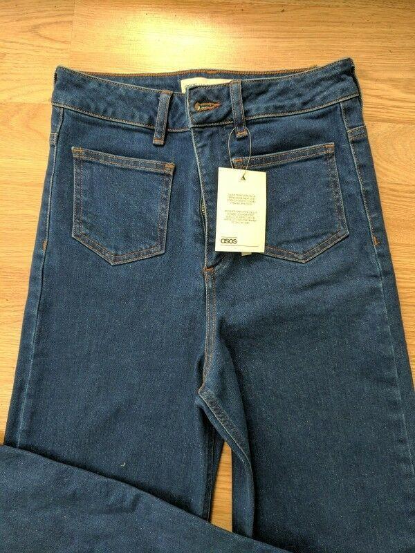 Wide high asos jeans широкі джинси кльош № 23 - Фото 2