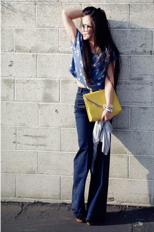 Wide high asos jeans широкі джинси кльош № 23 - Фото 3