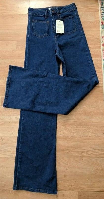 Wide high asos jeans широкі джинси кльош № 23 - Фото 4