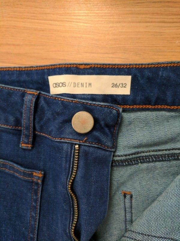 Wide high asos jeans широкі джинси кльош № 23 - Фото 5