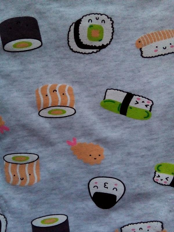 2 шт новый набор трусы польша принт суши суси онигири роллы ва... - Фото 7