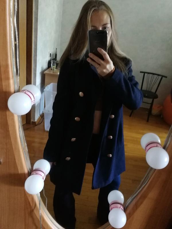 Пальто бушлат двубортное missguided