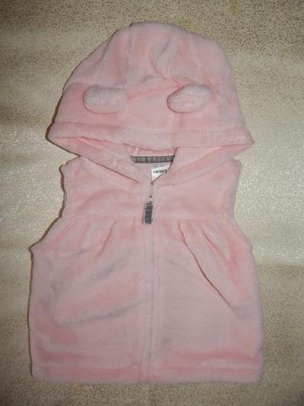 Комплект на девочку с розовой жилеткой carters 12, 18, 24 мес - Фото 3