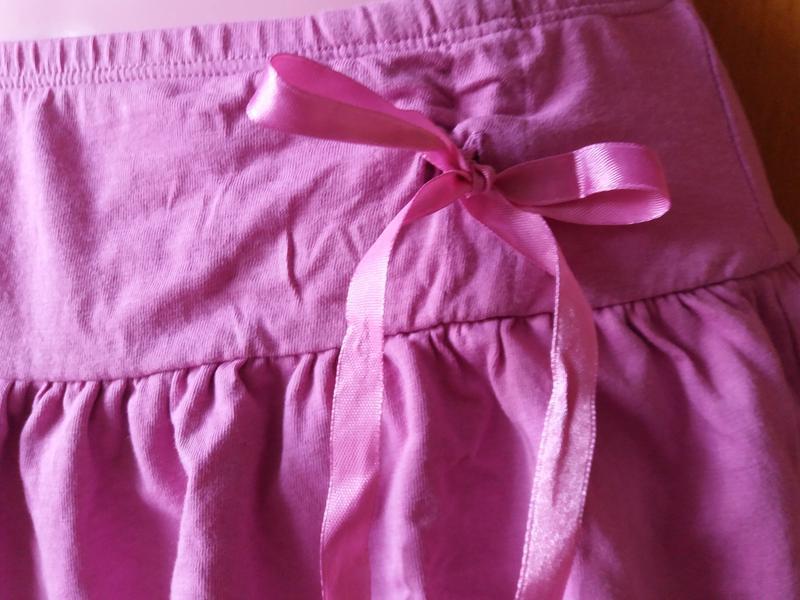 Яркая короткая котоновая  юбка на лето с бантом 12-13 лет!