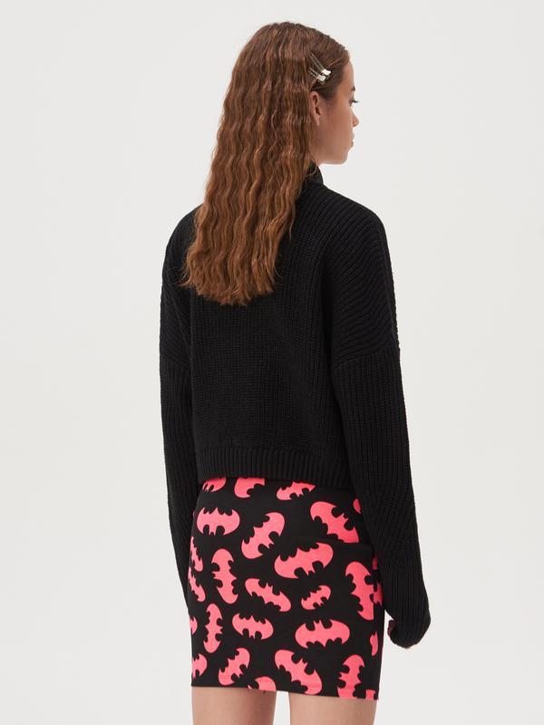 Новая короткая облегающая черная юбка мини принт летучая мышь ... - Фото 4