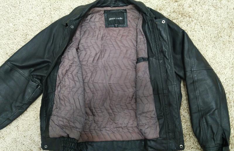 Куртка мужская кожаная утепленная - Фото 6