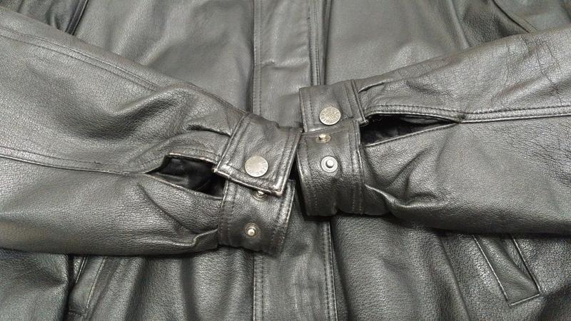 Куртка мужская кожаная утепленная - Фото 7