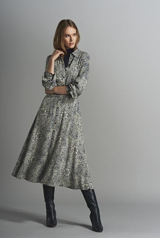 Стильное платье рубашка morris&co×h&m