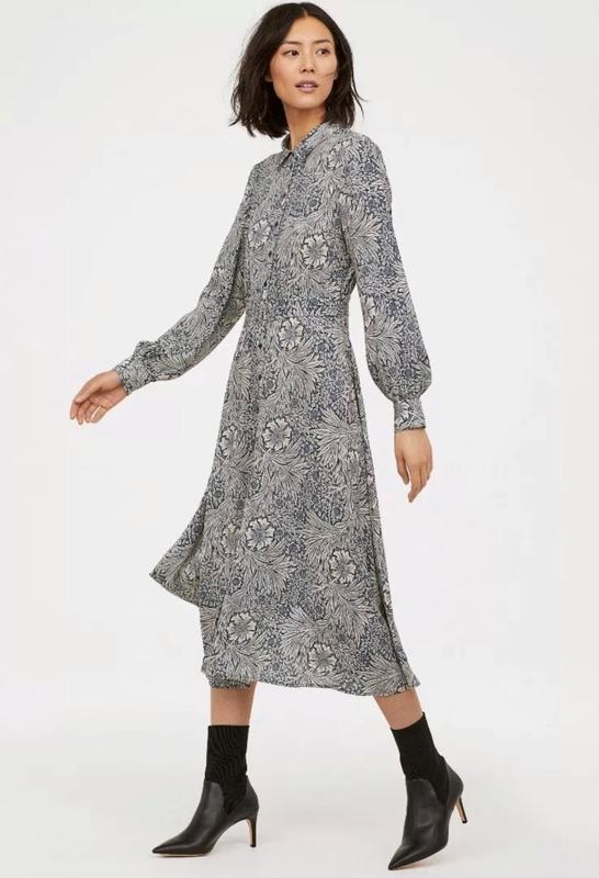 Стильное платье рубашка morris&co×h&m - Фото 2