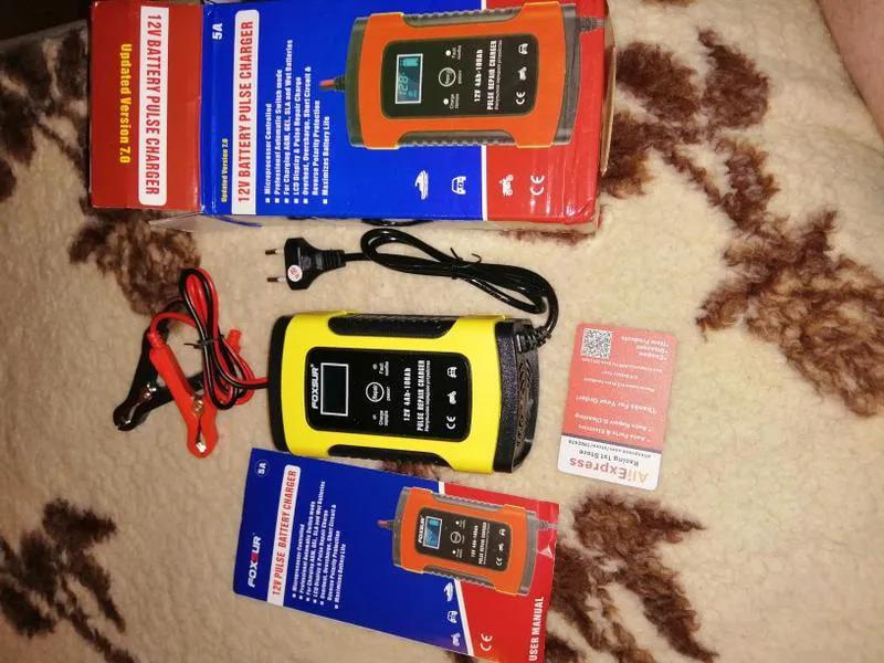 Зарядное устройство для аккумулятора вашего авто Foxsur 12V 5-6A - Фото 2