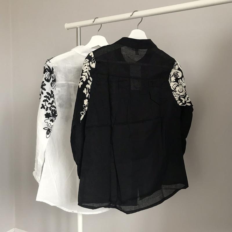 Шикарная блуза с вышивкой - Фото 2