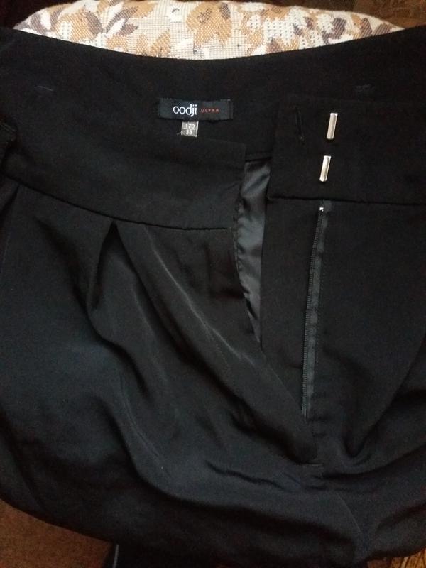 Чорные шорты на осень с карманами с высокой посадкой oodji 38 ... - Фото 2