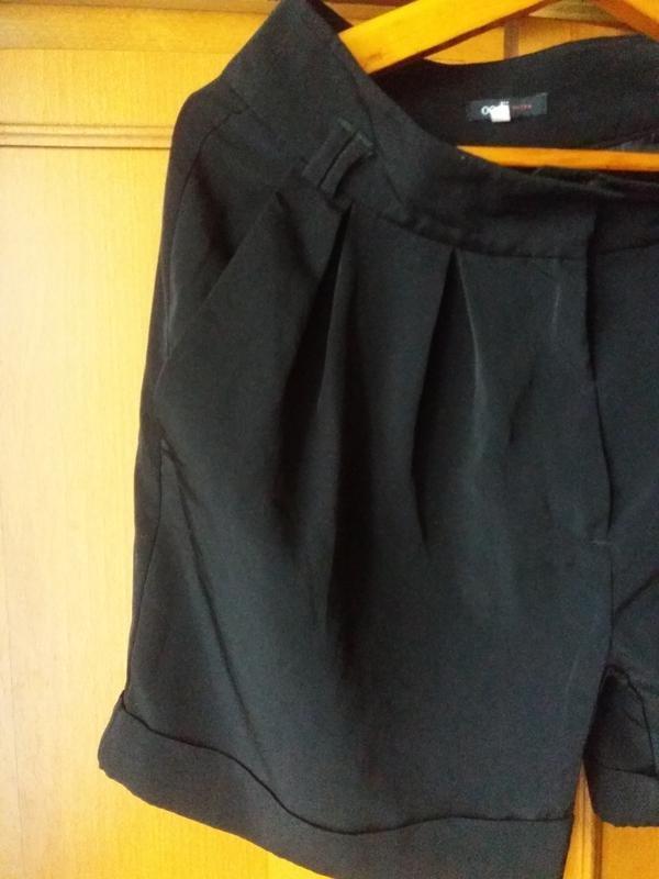 Чорные шорты на осень с карманами с высокой посадкой oodji 38 ... - Фото 4