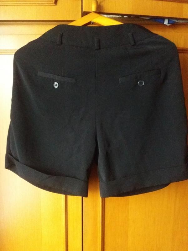 Чорные шорты на осень с карманами с высокой посадкой oodji 38 ... - Фото 5