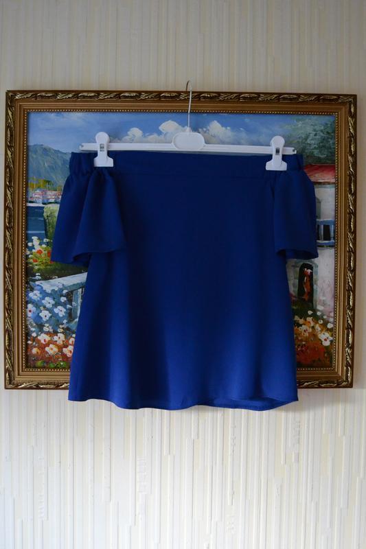 Блуза с открытыми плечами. - Фото 3