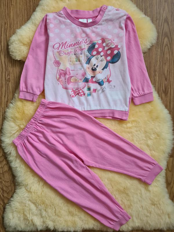 Пижама для девочки disney 1.5-2 мес 92 см пижамка с минни маус
