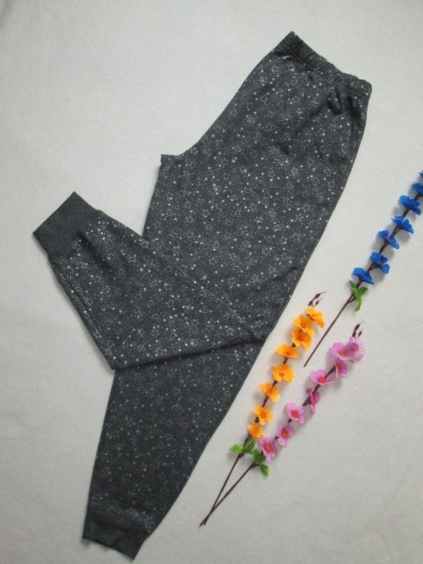 Трикотажные спортивные брюки принт звездное небо с начесом george - Фото 2